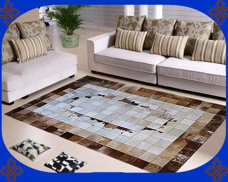 Fashionable art carpet 100% natural genuine cowhide leather water resistant carpetFashionable art carpet 100% natural genuine cowhide leather water resistant carpet