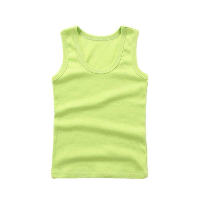 Os Meninos do bebê Menina Colete de Verão Crianças Roupa Interior de Algodão Meninas Camisas Undershirts Camisola Do Bebê Para Crianças
