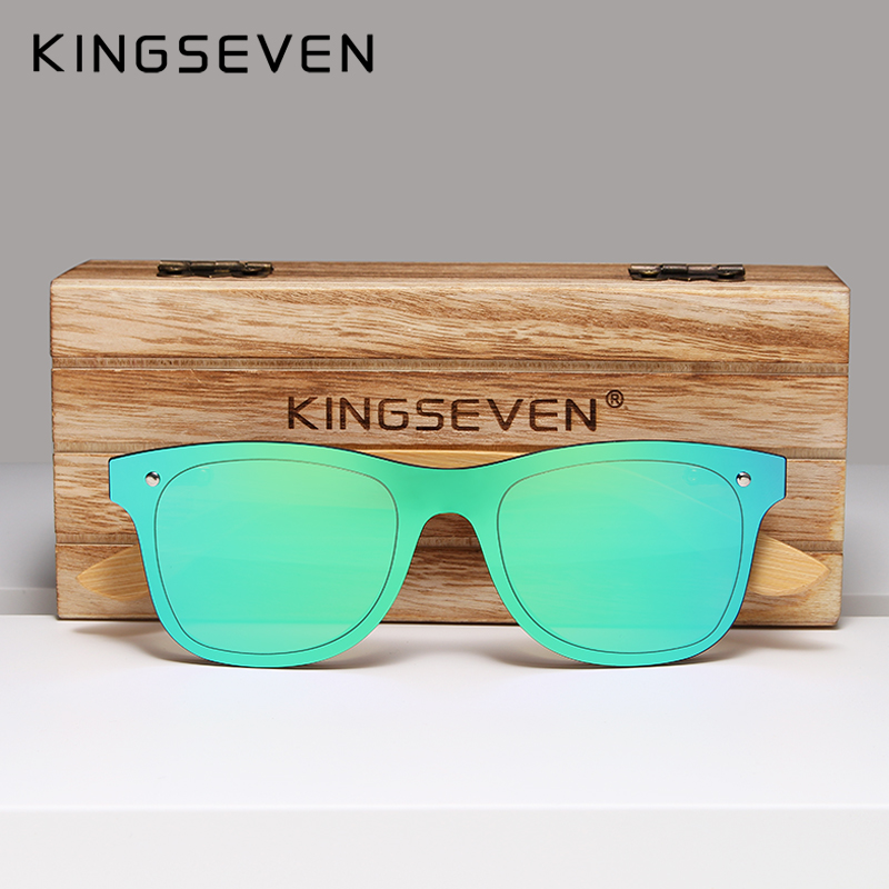 Image 4 - KINGSEVEN 2019 Bamboo Polarized Sunglasses Men Wooden Sun glasses Women Brand Original Wood Glasses Oculos de sol masculino-in Men's Sunglasses from Apparel Accessories