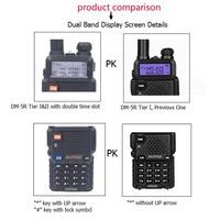 5r vhf dmr 2 PCS Baofeng Portable DM-5R דיגיטלי מכשיר הקשר CB Ham VHF UHF DMR רדיו תחנת זוגי Dual Band משדר Boafeng אמאדור (2)