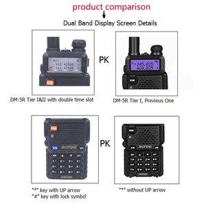 Image 2 - 2 PCS Baofeng DM 5R Portable Digital Walkie Talkie CB Ham VHF UHF DMR Radio Station Double Dual Band Transceiver Boafeng Amador