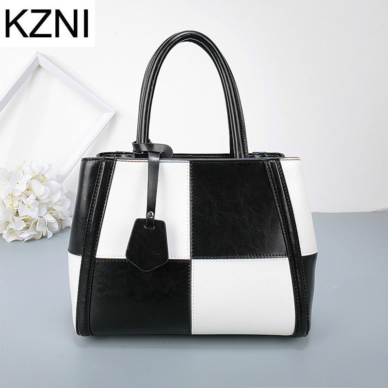 KZNI Genuine Leather Purse Crossbody Shoulder Women Bag Clutch Female Handbags Sac a Main Femme De Marque L010310 kzni genuine leather bag female women messenger bags women handbags tassel crossbody day clutches bolsa feminina sac femme 1416