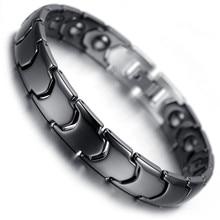 Men Bracelet Hand Chain Health Energy Magnetic Charm Male Ceramic Hologram Bracelets for Jewelry