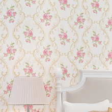Warm Pastoral Non-woven Wallpaper 3D European Flower Bedroom Living Room TV Background Wall Paper Thickening цена 2017