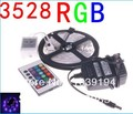 3528 RGB LED Strip Flexible Light 5M 300 Led SMD IR Remote Controller 12V 2A Power Adapter Free Shipping Blue Green Red White