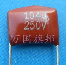 Entrega gratuita. CL21 película de poliéster metalizada capacitor 250 v 104 0.1 uF 0.1 uF