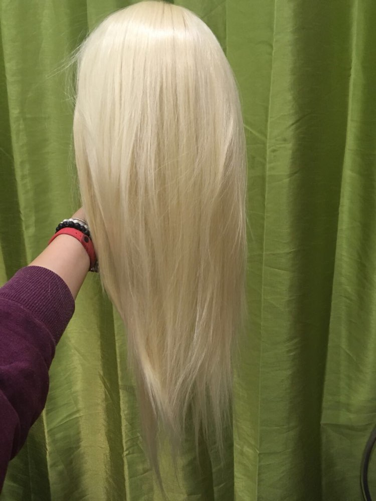 CAMMITEVER Hair Makeup Face and Mannequin Head with Blonde Color Hair for Training Exam with Table Clamps in Mannequins from Home Garden