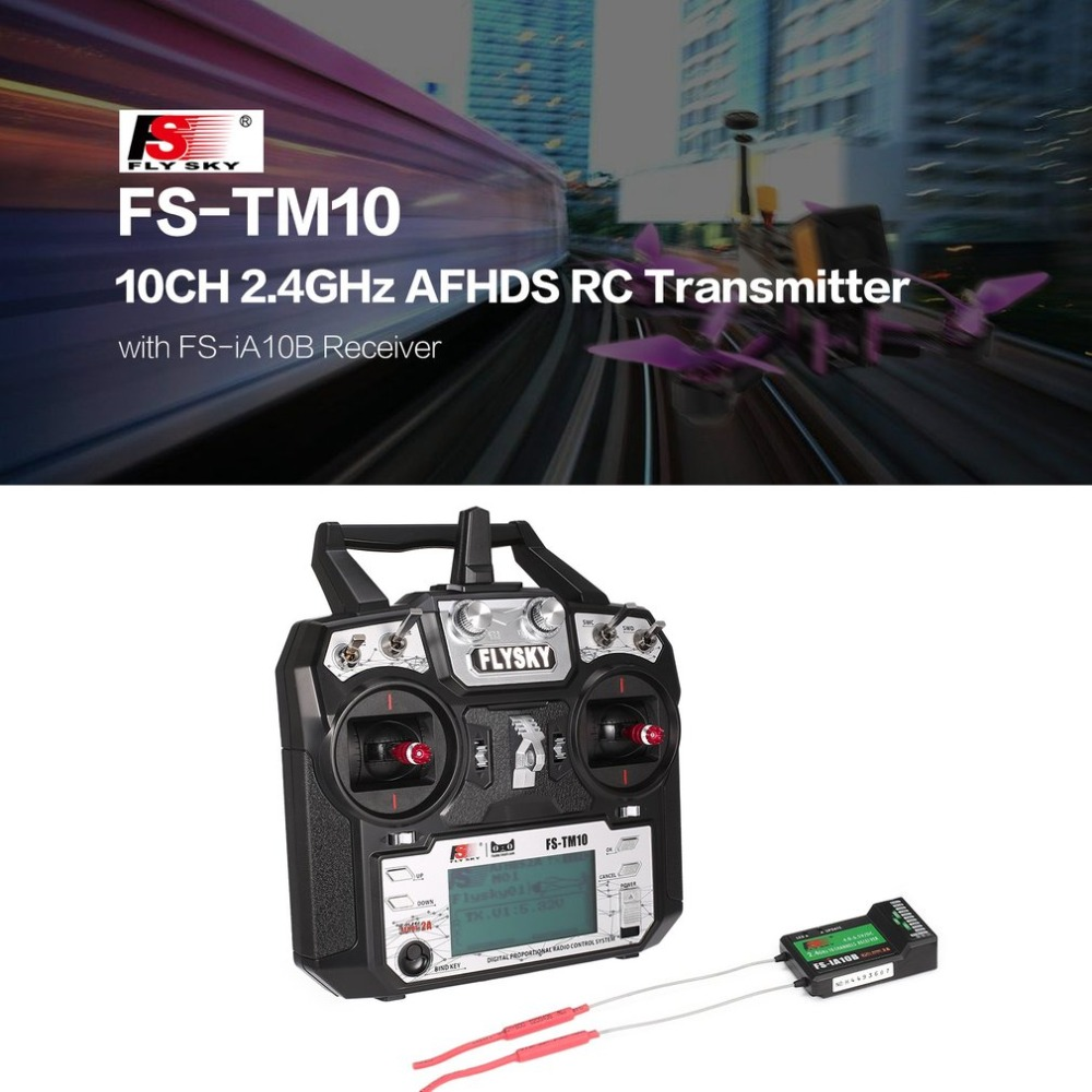 FS-TM10 FS-i6X 10CH 2.4GHz AFHDS RC Transmitter Radio Model Remote Controller System with FS-IA10B Receiver rc Parts Accessories 1 set fs i6x 10ch 2 4ghz afhds 2a rc transmitter with fs ia6b fs ia10b fs x6b fs a8s receiver for remote control plane model