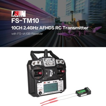 FS-TM10 FS-i6X 10CH 2.4GHz AFHDS RC Transmitter Radio Model Remote Controller System with FS-IA10B Receiver rc Parts Accessories