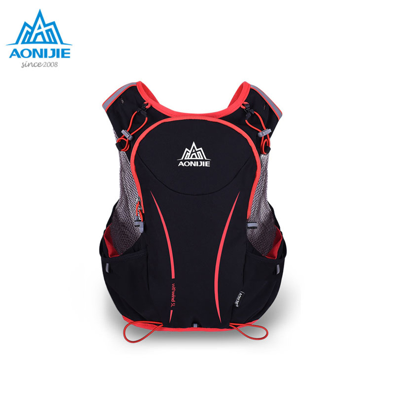 AONIJIE 5L Outdoor Sports Backpack Women / Men Marathon Hydration Vest Pack for Exchange Cycling Hiking Water Bag
