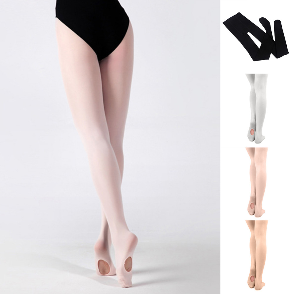 Convertible Tights Dance Stocking Footed Ballet Pantyhose for Kids Adults