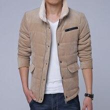 Новый Плюс Размер 4XL 5XL Флис Вельвет Ватные Куртки Мужчины Хлопок Наполнитель Утолщение Ватные Пальто Мужчины Зимняя Куртка