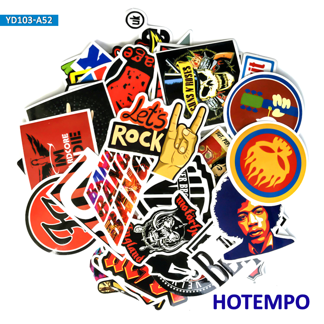 Piezas 60 50 piezas Hip Hop Rock Roll Punk música Banda estilo pegatinas para  teléfono móvil portátil equipaje guitarra Skateboard bicicleta coche  pegatinas 7f98b42d986