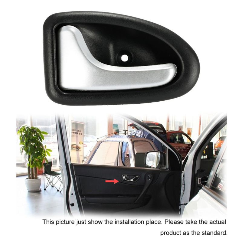 Image 4 - 1 Pair Left / Right Black Chrome Car Cable Type Interior Door Handle For Renault for Renault Clio 2000 2009-in Interior Door Handles from Automobiles & Motorcycles