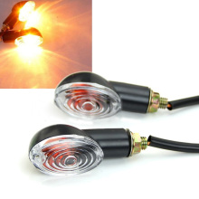 MAYITR 4pcs 12V Universal Motorcycle Bike Turn Signal Blinker Indicator Amber Light High Quality