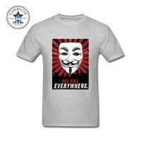2017 neue Fashion Lustige Persönlichkeit V Wie Vendetta Baumwolle Lustiges T-shirt für männer
