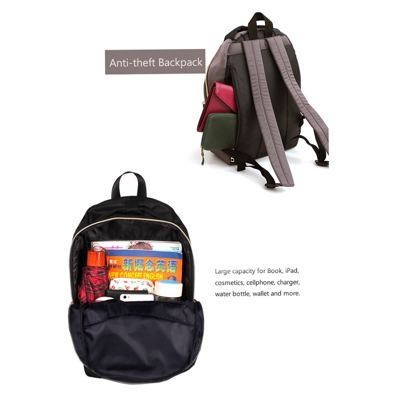YIFANGZHE Fashion Backpack Oxford Waterproof Cloth Nylon Rucksack School College Bookbag Shoulder Purse for women girls in Backpacks from Luggage Bags