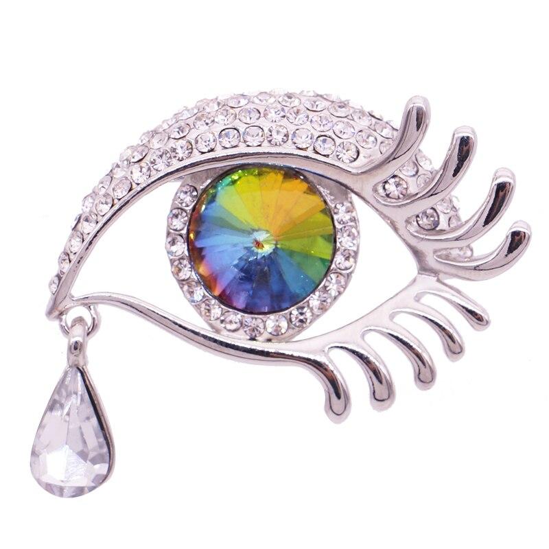Mieehoo 100 magasin Newes cristal étoile avec ange larmes broche ensemble verre yeux long cils sein fleur fabricants vente directe