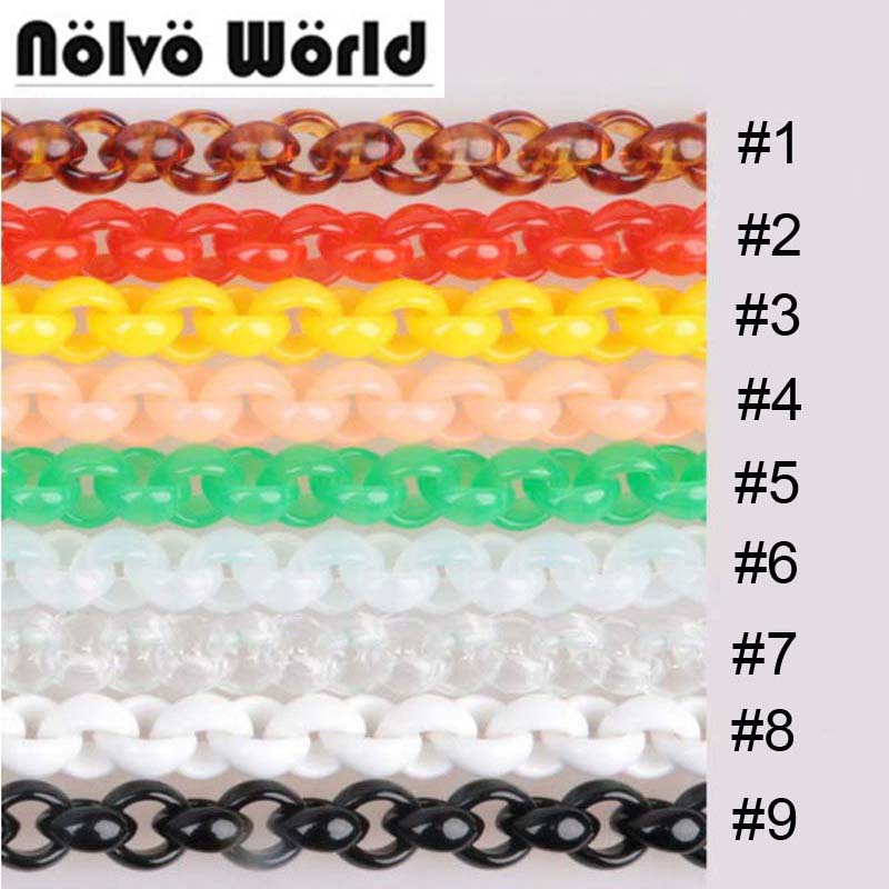 Wholesale 10 pieces 60cm 120cm High Fashion Plastic Chain Never Fade Resin Acrylic Bag Strap Chains Bolso Fermoin Purse Chain jin ruiguang cut pieces of high speed resin cutting wheel 105 1 16 dual wholesale