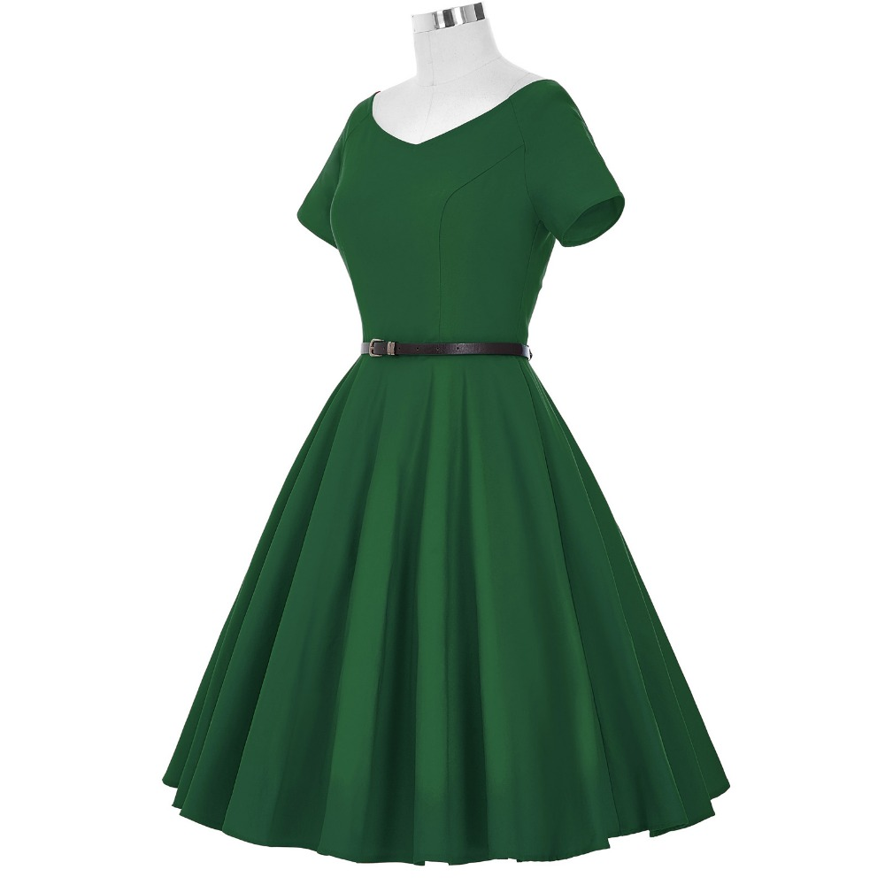 bcf5fc106b95a Belle Poque Womens Summer Dresses 2018 Summer Sexy V Neck Woman Party 50s  60s Retro Ladies Rockabilly Swing Robe Vintage Dress-in Dresses from  Women's ...