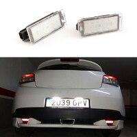 Car LED Number License Plate Light SMD3528 For Renault Megane 2 Clio Laguna 2 Megane 3