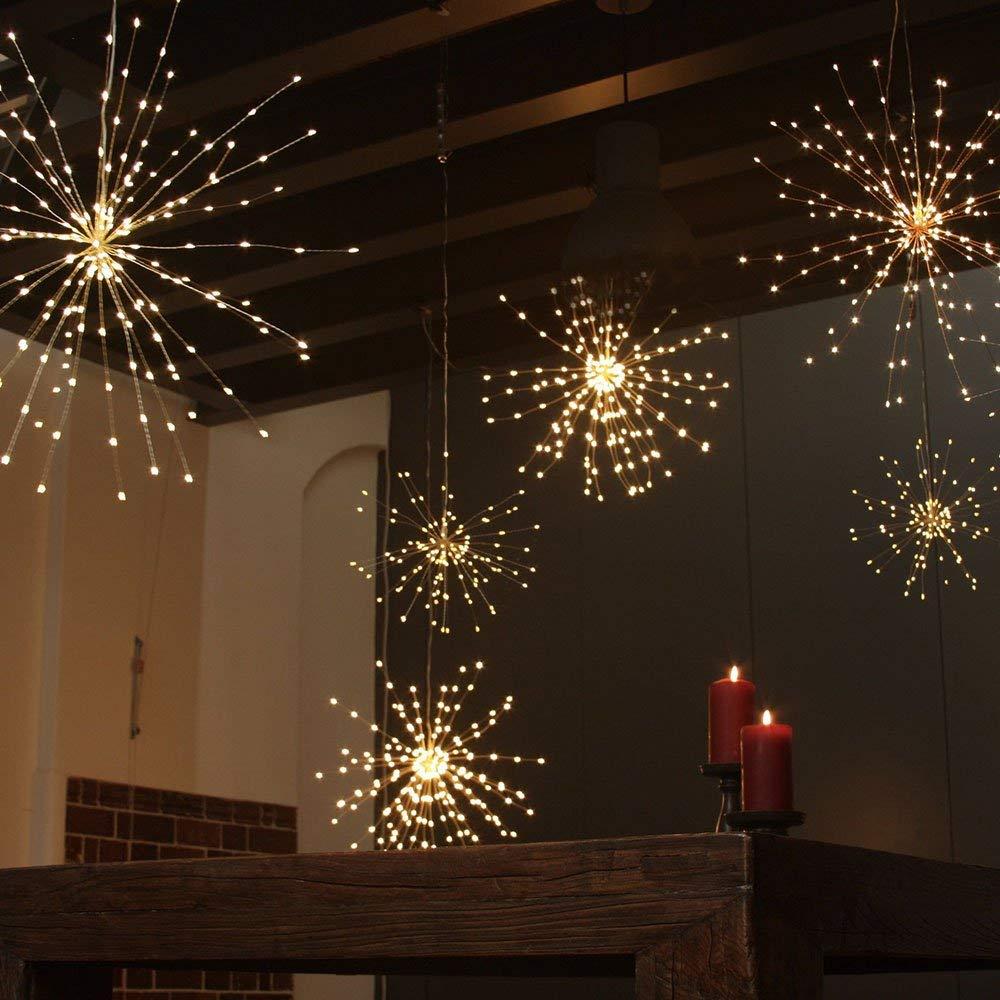 Dandelion Fireworks String Lights Led Copper Starburst Lights
