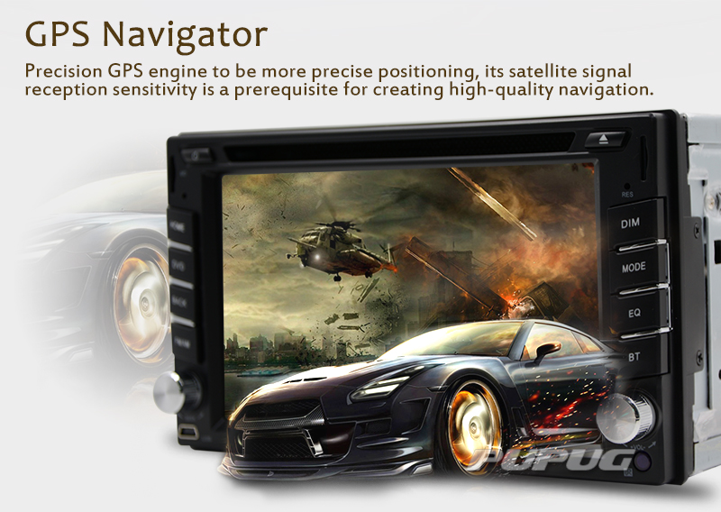Eincar Double din in dash 6.2'' 2 Din car dvd player with GPS Navigation 8GB MAP Car radio Bluetooth Wince 6.0 car audio stereo