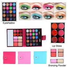 Makeup Lip Gloss 32 Color Waterproof Eye Shadow Set Shimmer Matte Eye Shadow MakeUp LongLasting Eye Palette    5.8DJL