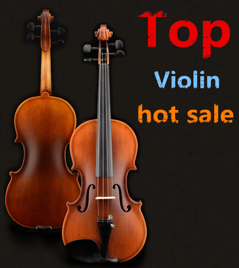 High quality archaize violin 1/4 3/4 4/4 1/2 1/8 violin handcraft violino Musical Instruments with violin rosin 4 4 high quality 5 string electric violin yellow 2 pickup violin