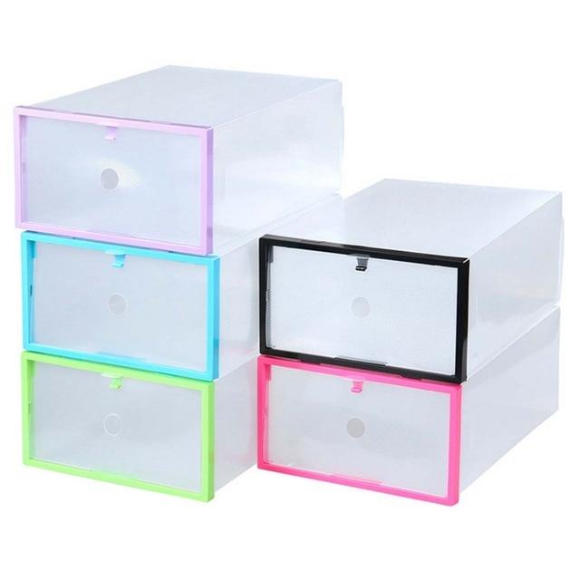 Shoebox Shoe Storage Shoe Cabinet Rack Plastic Rack Home Storage Box Shoe  Hanger