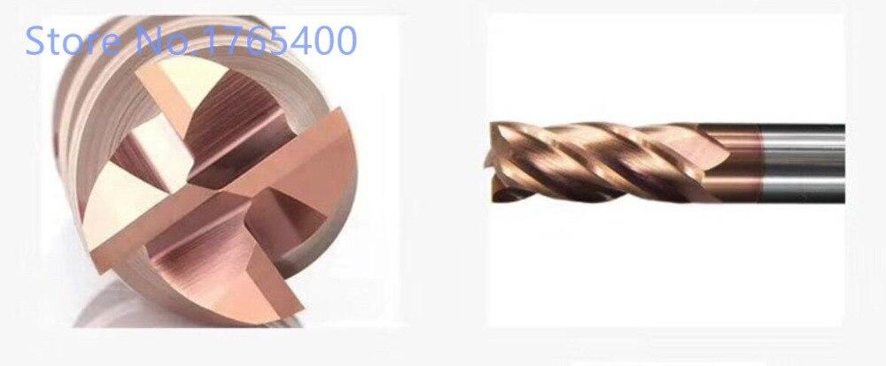 Купить с кэшбэком New 1pcs  HRC55 4 Flute 1mm 2mm 3mm 4mm 5mm 6mm 7mm 8mm 9mm 10mm Carbide End Mill Tungsten Steel  Milling cutter CNC end milling