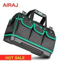 Bolsa de herramientas AIRAJ bolsa de electricista portátil Instalación de reparación multifunción lona bolsa de herramientas de gran grosor bolsillo de trabajo