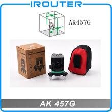ФОТО aculine 2017 new model , ak457g laser level, 3 green lines ,3 points,green ray level ,3 lines laser level