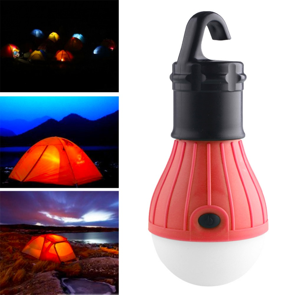 Mini Portable Lantern Tent Light LED Bulb Emergency Lamp Waterproof Hanging Hook Flashlight For Camping Outdoor Use 3*AAA Lights
