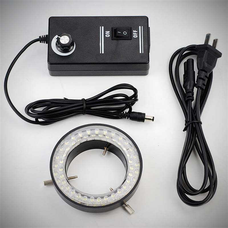 LED Ring Lamp Stereo Microscope Ring Light Source Annular Lamp Tube Lighting Luminance Adjustable