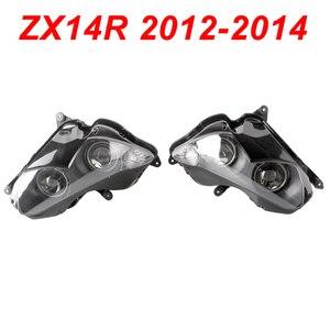 Передний фонарь для мотоцикла Kawasaki Ninja ZX14R ZX 14R, 12-14 дюймов, светильник с прозрачной головкой 2012 2013 2014