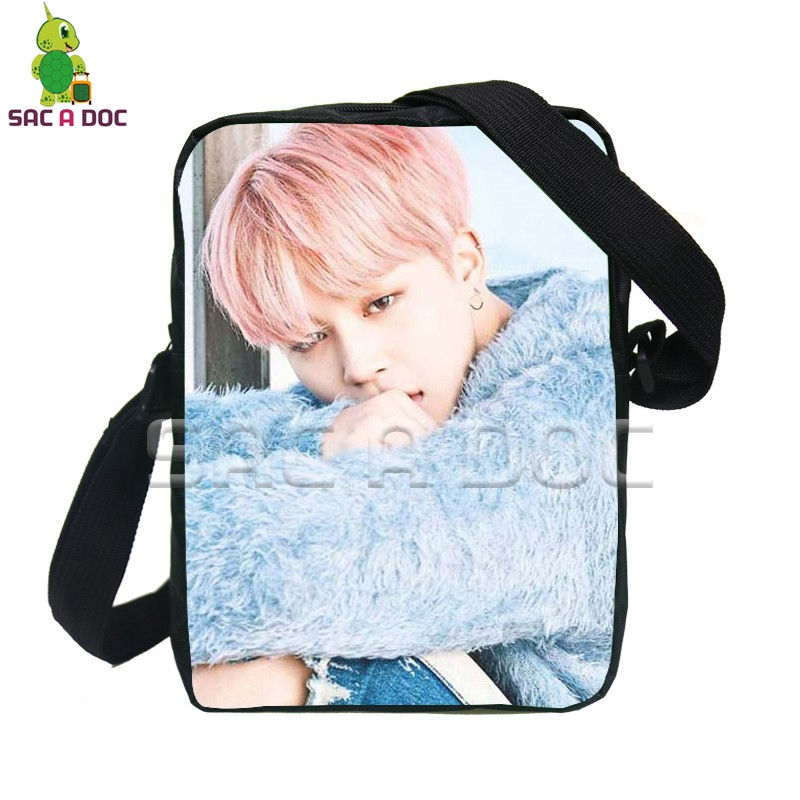 fd67dfa07277 Kpop BTS Bangtan Boys Mini Messenger Bags JIMIN SUGA V School Shoulder Bags  Women Men Crossbody