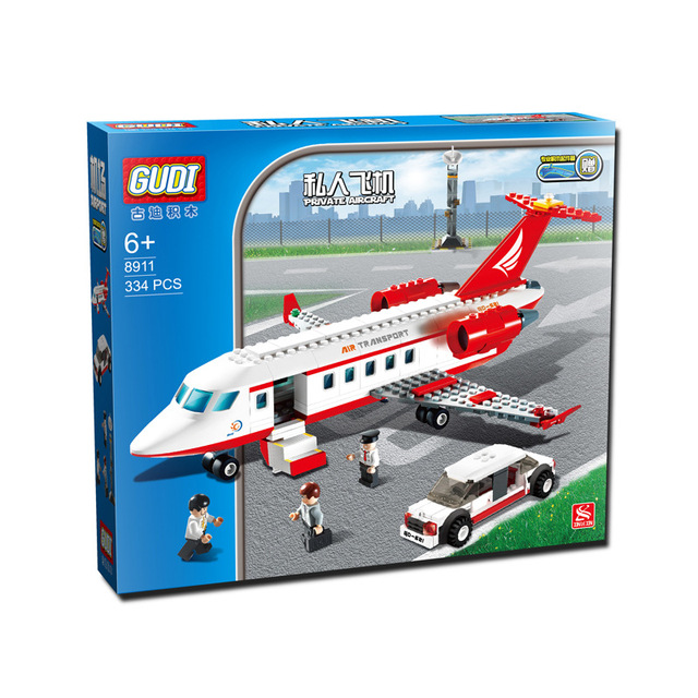 GUDI Série Aviação Avião Blocos de Construção Designer Avião Educação Construção BlocksToys para Meninos 8913