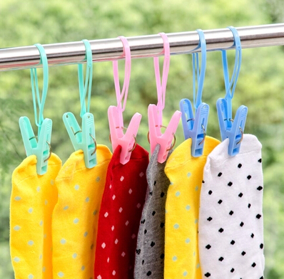 12PCS Multifunction Clothesline Plastic Clothes Drying Rack Towel Clips Clothes Pegs Laundry Drying Clip Clothes Clips in Drying Racks Nets from Home Garden