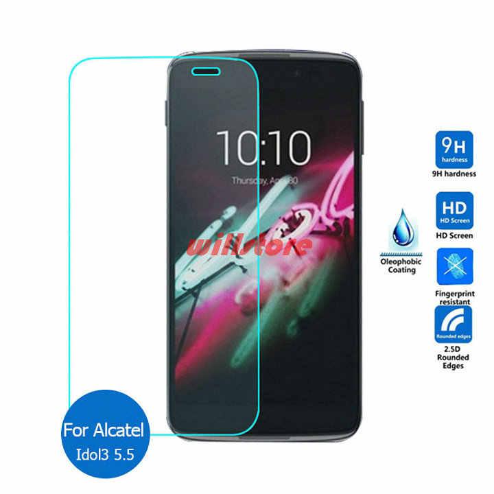 Temperli cam ekran koruyucu Film Alcatel One Touch için Pop C3 C7 C9/Idol 3 4 4S 4.7 5.5 /Pixi 3 4 3.5 4 5 5.0 5.5 6 6.0