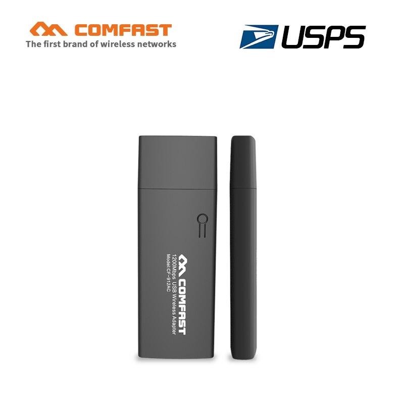 Comfast CF-912AC 1200Mbp Dual Band Mini PC Wi Fi Adapter 2.4G+5.8G Computer Network Card 802.11 Ac USB 3.0 Wireless Wifi Adapter