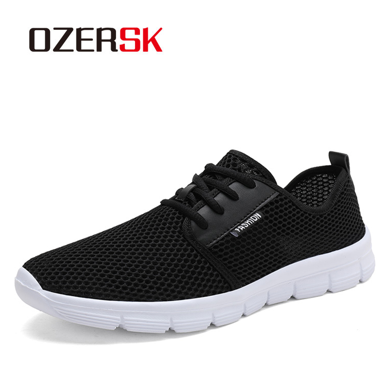 OZERSK Men Casual Shoes Plus Size 47 48 New Summer Breathable Sneakers Male Lightweight Trainers Mesh Men Shoes Hombre Zapatos