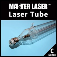 New Generation 120W CO2 Laser Tube Length 1250mm Dia 80mm Lifetime 10000 Hrs Wooden Cases 120W