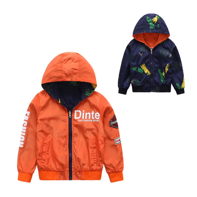 7fae44bedc74 Kids Jacket Baby Boys Spring Coat Children Clothes Reversible ...