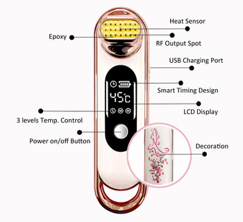 New RF Wrinkle Removal Anti-aging Beauty Machine Dot Matrix Facial Radio Frequency Face Lifting Skin Tightening Care Device