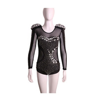 2017 Free Shipping Rhinestone Jazz Dance Modern Dance Costume Fashion High Quality Dancing Dress Stage Show