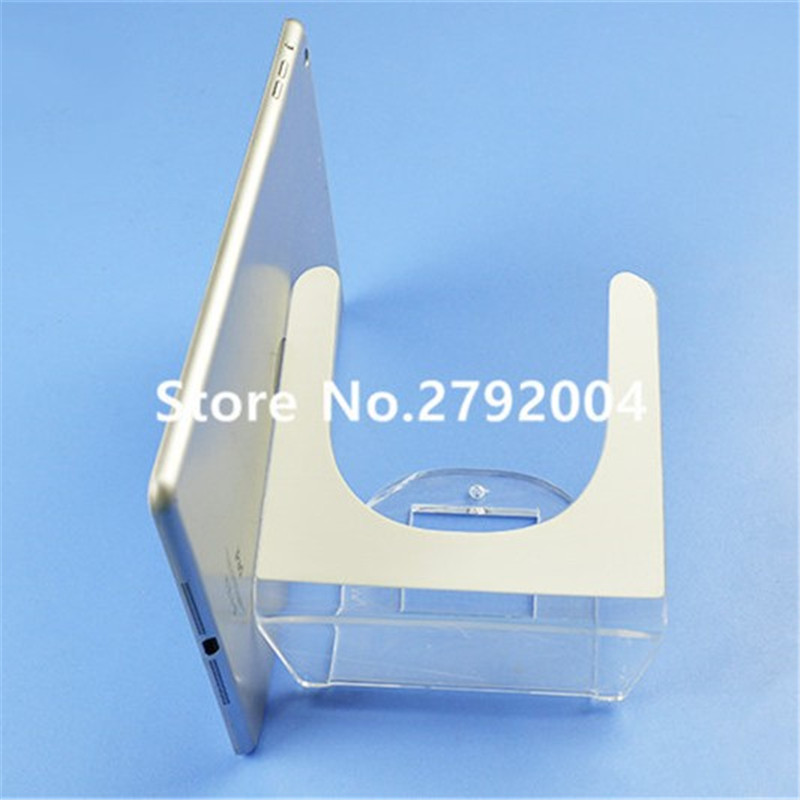 10pcs Acrylic security Ipad stand tablet display holder  base for apple samsung shop tablet pc