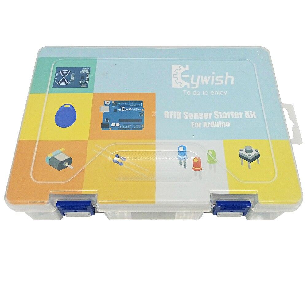 Keywish Plus Complète RFID Capteur Starter Kit Pour Arduino UNO R3 Starter Kit D'eau-niveau Capteur Servo/DC/Moteur pas à pas RGB LED - 2