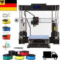 3D Drucker A8 3D printer 220*220*240mm DIY Wood frame Ship from UK Power Failure Resume Printing Impressora 3d