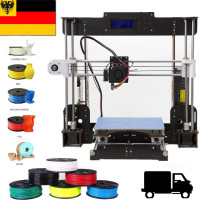 3D Drucker A8 3D printer 220*220*240mm DIY Kit Wood frame Ship from Germany Power Failure Resume Printing Impressora 3d
